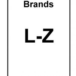 Brands Starting L to Z