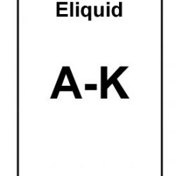 Eliquid Starting A to K